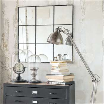 TOBIAS metal mirror in black H 90cm