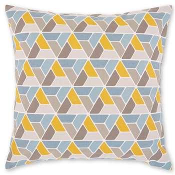 Toki Geometric Cushion, Mustard Yellow (H45 x W45cm)