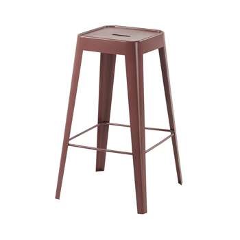 TOM - Claret Metal Bar Stool (H69 x W40 x D40cm)