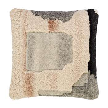 Tom Dixon - Abstract Hand Tufted Cushion - Natural (H45 x W45cm)