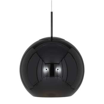 Tom Dixon - Copper Black Round Pendant Light (H40 x W45 x D45cm)