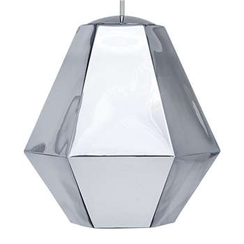 Tom Dixon - Cut Pendant Light - Chrome - Tall (55 x 50cm)
