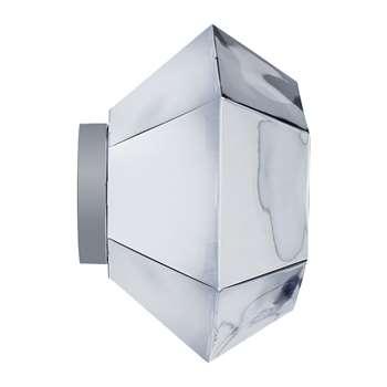 Tom Dixon - Cut Wall/Ceiling Light - Chrome (28 x 50cm)