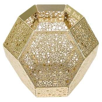 Tom Dixon - Etch Dot Tealight Holder - Brass (H10.2 x W12.6 x D12.6cm)