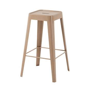 TOM - Pink-Beige Metal Bar Stool (H69 x W40 x D40cm)