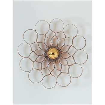 Tom Raffield Arame Wall Light, Walnut (H58 x W58 x D13cm)