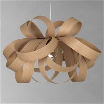 Tom Raffield Large Skipper Pendant Light, Oak (H54 x W80 x D80cm)
