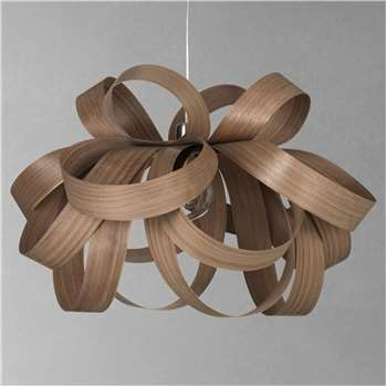 Tom Raffield Large Skipper Pendant Light, Walnut (H54 x W80 x D80cm)