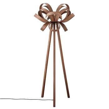 Tom Raffield Skipper Floor Lamp, Walnut/Brass (H152 x W62 x D62cm)