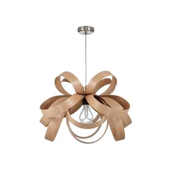 Tom Raffield Skipper Pendant Light, Oak (H40 x W62 x D62cm)