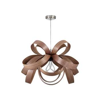 Tom Raffield Skipper Pendant Light, Walnut (H40 x W62 x D62cm)