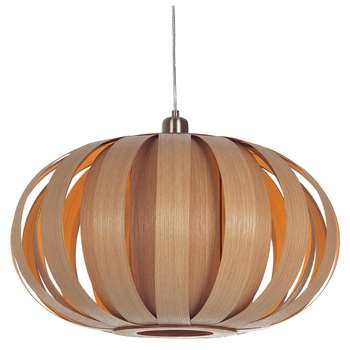 Tom Raffield Urchin Pendant Ceiling Light, Oak (H30.5 x W55 x D55cm)