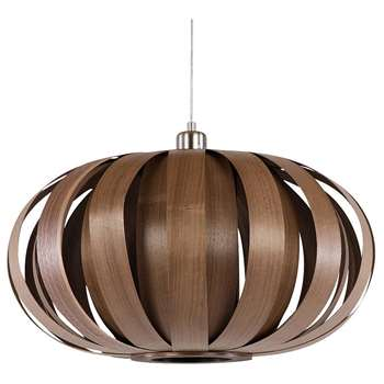 Tom Raffield Urchin Pendant Ceiling Light, Walnut (H30.5 x W55 x D55cm)