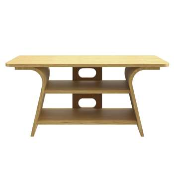 """Tom Schneider Chloe 1000 TV Stand for TVs up to 45"""", Natural Oak (H55 x W110 x D50cm)"""