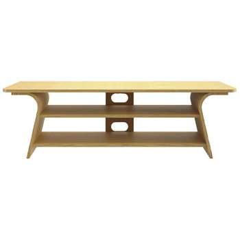 Tom Schneider Chloe 1500 TV Stand for TVs up to 65, Natural Oak (H55 x W160 x D50cm)