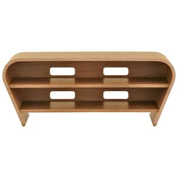 """Tom Schneider Taper 1050 TV Stand for TVs up to 45"""", Natural Oak (H45 x W113 x D51cm)"""