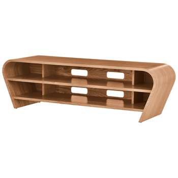 """Tom Schneider Taper 1400 TV Stand for TVs up to 60"""", Natural Oak (H45 x W148 x D51cm)"""