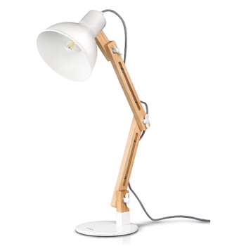Tomons Scandinavian Swing Arm Desk Lamp, White (Height 50cm)