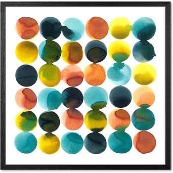 Tonal Dots by Rebecca Hoyes, Framed Wall Art Print (H53 x W53 x D2cm)
