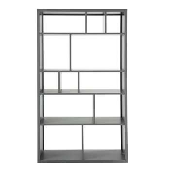 TONIC Wooden bookcase in grey (170 x 100cm)