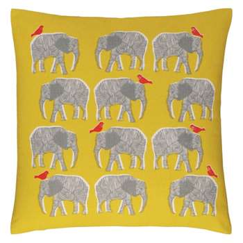 Topsy Yellow patterned cushion (45 x 45cm)