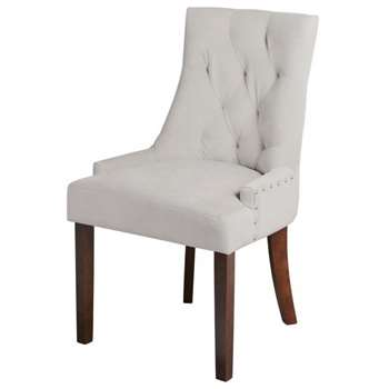 Torino Dining Chair with Back Ring - Taupe (91.5 x 57cm)