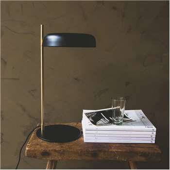 Torsten Black Table Lamp (H47 x W23 x D23cm)