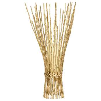 Tortured Willow Candle Holder, Large - Brass (49 x 22cm)