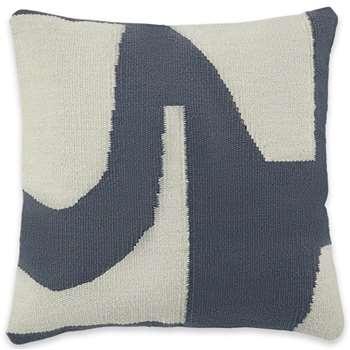 Toussaint Woven Cotton Cushions, Iron Grey (H45 x W45cm)