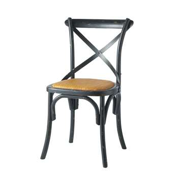 TRADITION Chair in black (87 x 51cm)