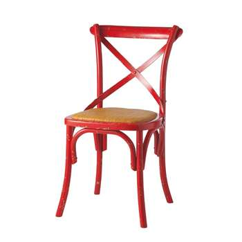 TRADITION  Chair in red (87 x 51cm)