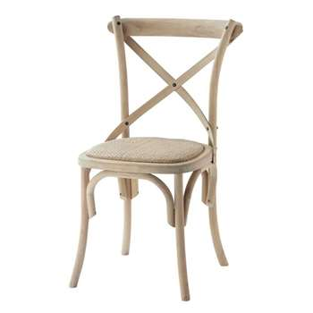 TRADITION Rattan and birch chair (87 x 51cm)