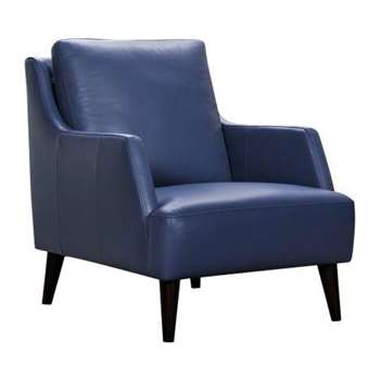 Trend Sky Blue Leather Accent Chair (H91 x W76 x D93cm)