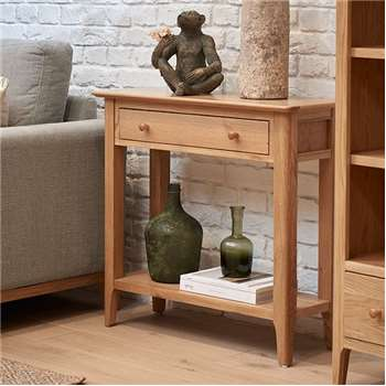Trento Oak Console Table (H75 x W80cm)