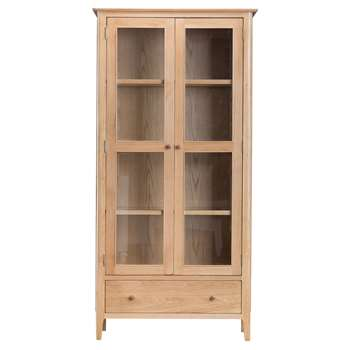 Trento Oak Display Cabinet (H180 x W90 x D35cm)