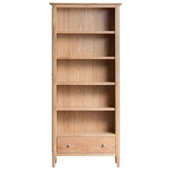 Trento Oak Large Bookcase (H180 x W80 x D30cm)