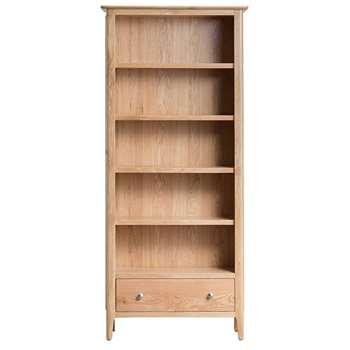 Trento Oak Large Bookcase (H180 x W80 x D30cm)