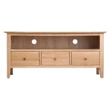 Trento Oak Large TV Cabinet (H55 x W120 x D40cm)