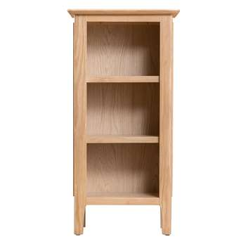 Trento Oak Small Narrow Bookcase (H90 x W45 x D30cm)