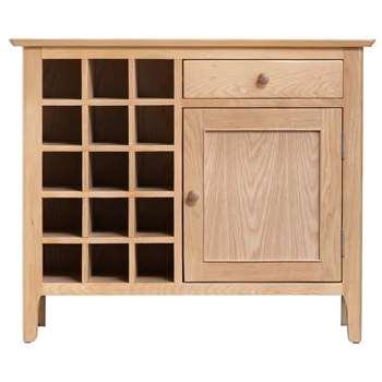 Trento Oak Wine Cabinet (H75 x W90 x D35cm)