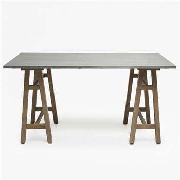 Trestle Desk - Silver (76 x 150cm)