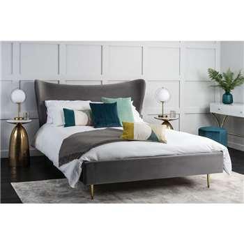 Tretton Deluxe Bed - Grey, Double (H120 x W137 x D192cm)
