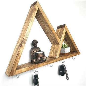 Nouvelle ere - Triangle Floating Key Holder Shelf (H35 x W52 x D7cm)
