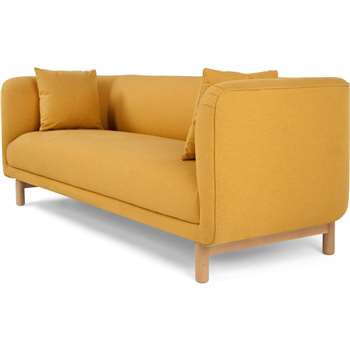 Tribeca 3 Seater Sofa, Yolk Yellow (75 x 201cm)