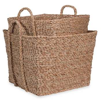 TRIBU 2 square woven baskets (H34 x W45 x D45cm)