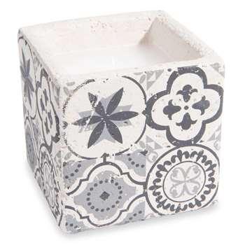 TRIBU cement tile candle (H11 x W11 x D11cm)