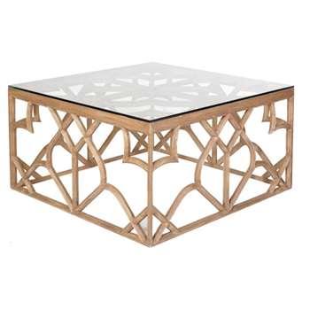 Trifoglio Wooden Coffee Table - Brown (50 x 97cm)