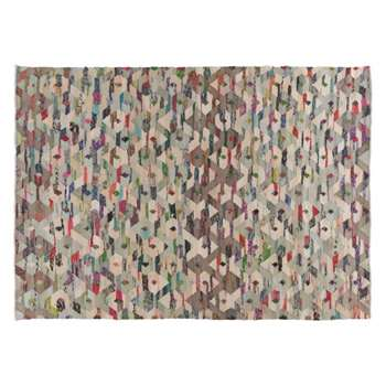 Trigas Large multi-coloured flat weave rug 170 x 240cm