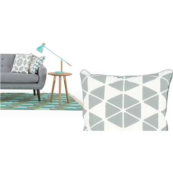 Trio Cushion, Grey (45 x 45cm)