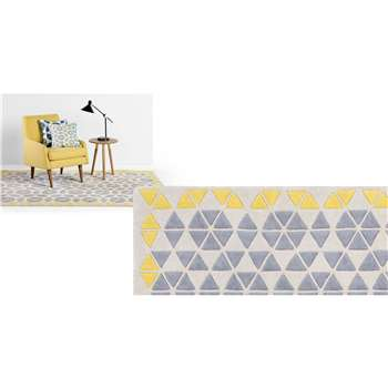 Trio Large Rug, Grey and Mustard (160 x 230cm)